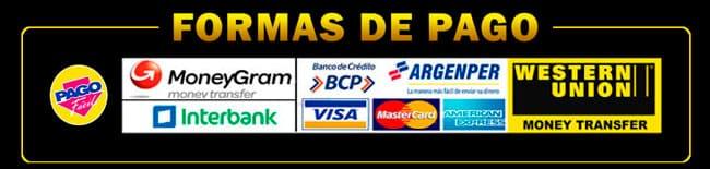 Todas las formas de pago que tenemos para que contrates con los mejores servicios en Perú